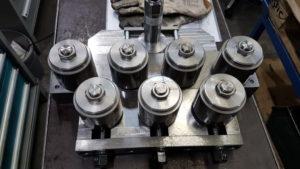 Bandrichtapparat mit Schnellverschluss - einseitige Lagerung -- bis 70 mm Breite