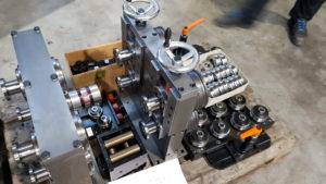 Vierfach Vortreibgerät - reduziert den Schlupf bei Dauerbetrieb