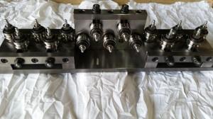 dreifacher Seilrichtapparat mit nadelgelagerten Richtrollen