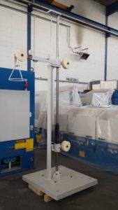 Ablaufgalgen mit PN Zylinder-- Hub 1000 mm und Sicherungsschalter