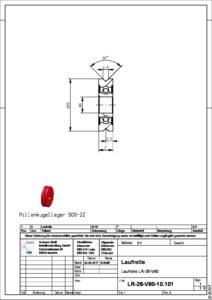 Kugellager 608/26 ZZ