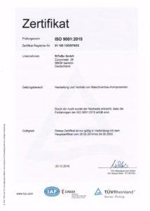 Zertifikat DIN / ISO 9001-2015